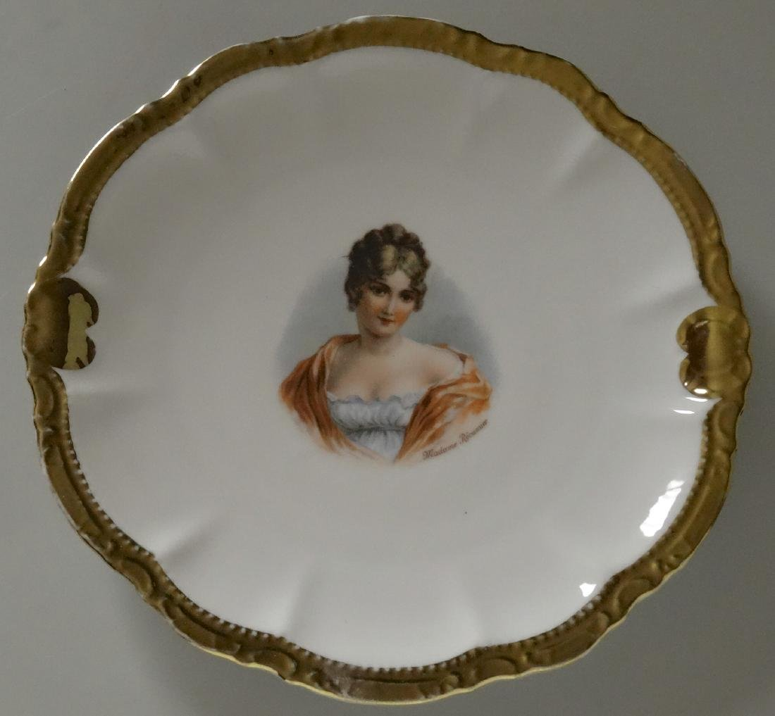 Madame Recamier Vintage Portrait Cabinet Plate Wide