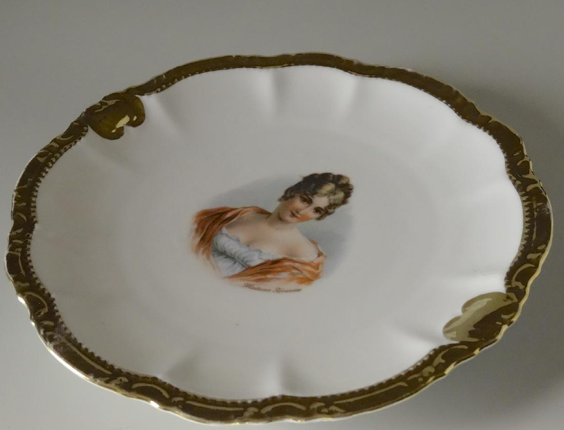Madame Recamier Vintage Portrait Cabinet Plate Wide - 2