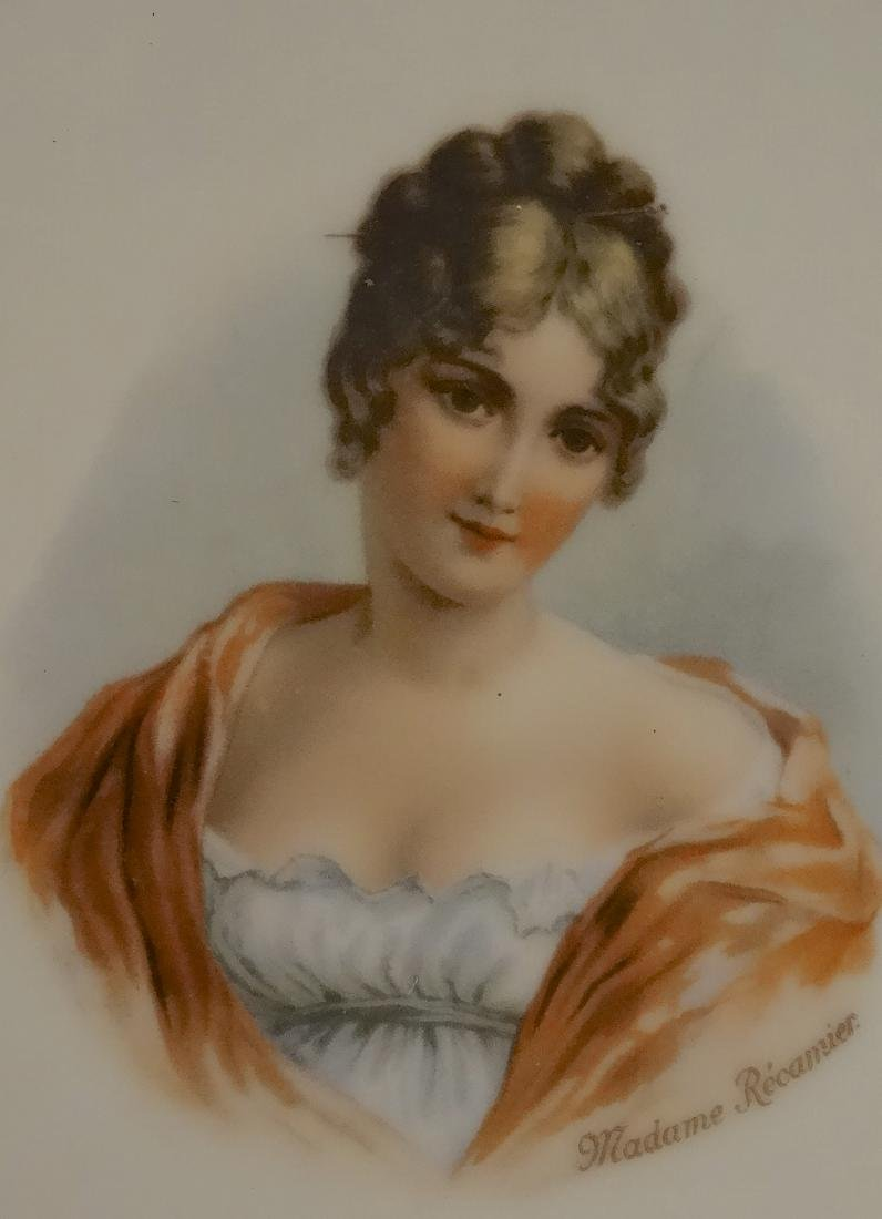 Madame Recamier Vintage Portrait Cabinet Plate Wide - 4