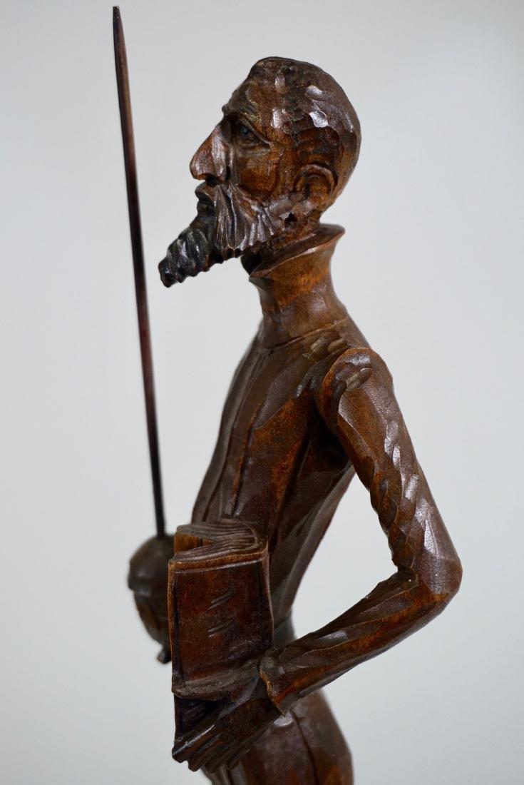 Don Quixote Carved Wood Vintage Sculpture Mid Century