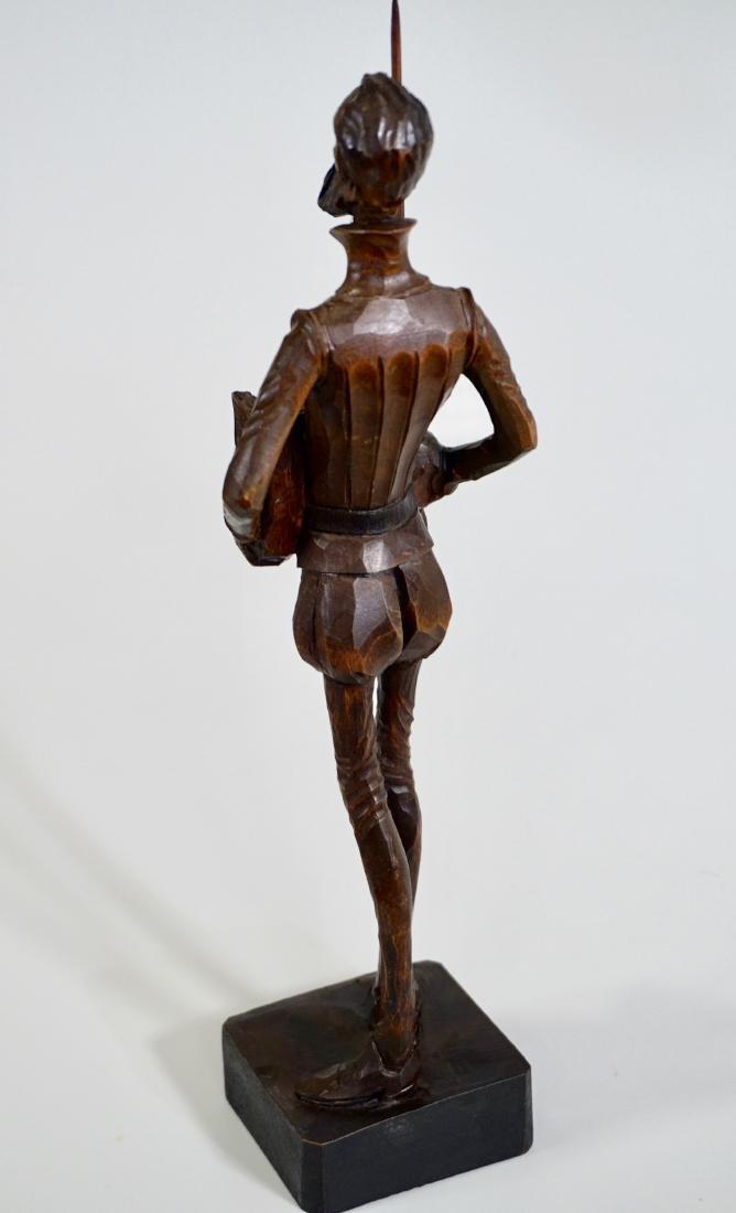 Don Quixote Carved Wood Vintage Sculpture Mid Century - 4