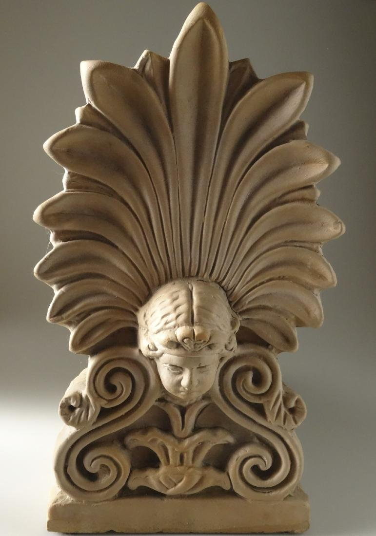 Antique French Empire Terracotta Tile Roof Finial