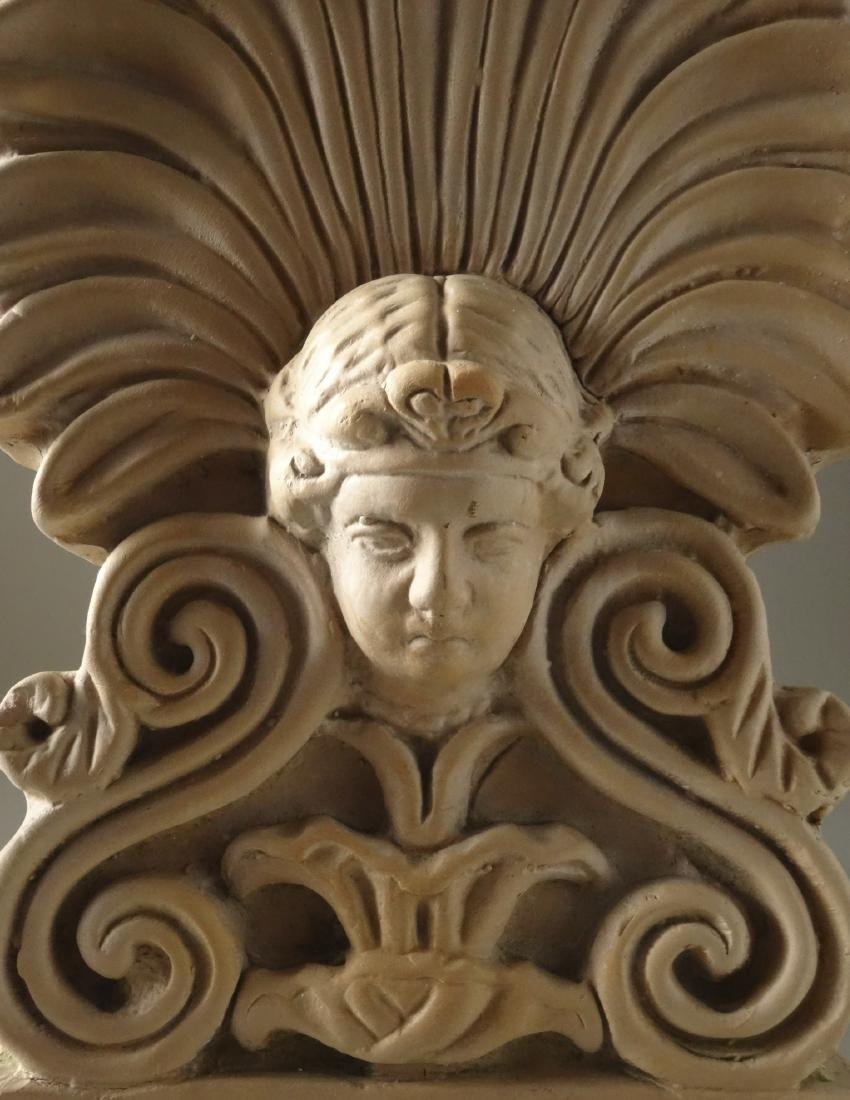 Antique French Empire Terracotta Tile Roof Finial - 3