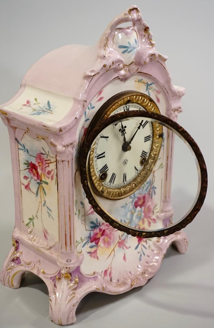 Ansonia Royal Bonn China Striking Mantle Clock - 9