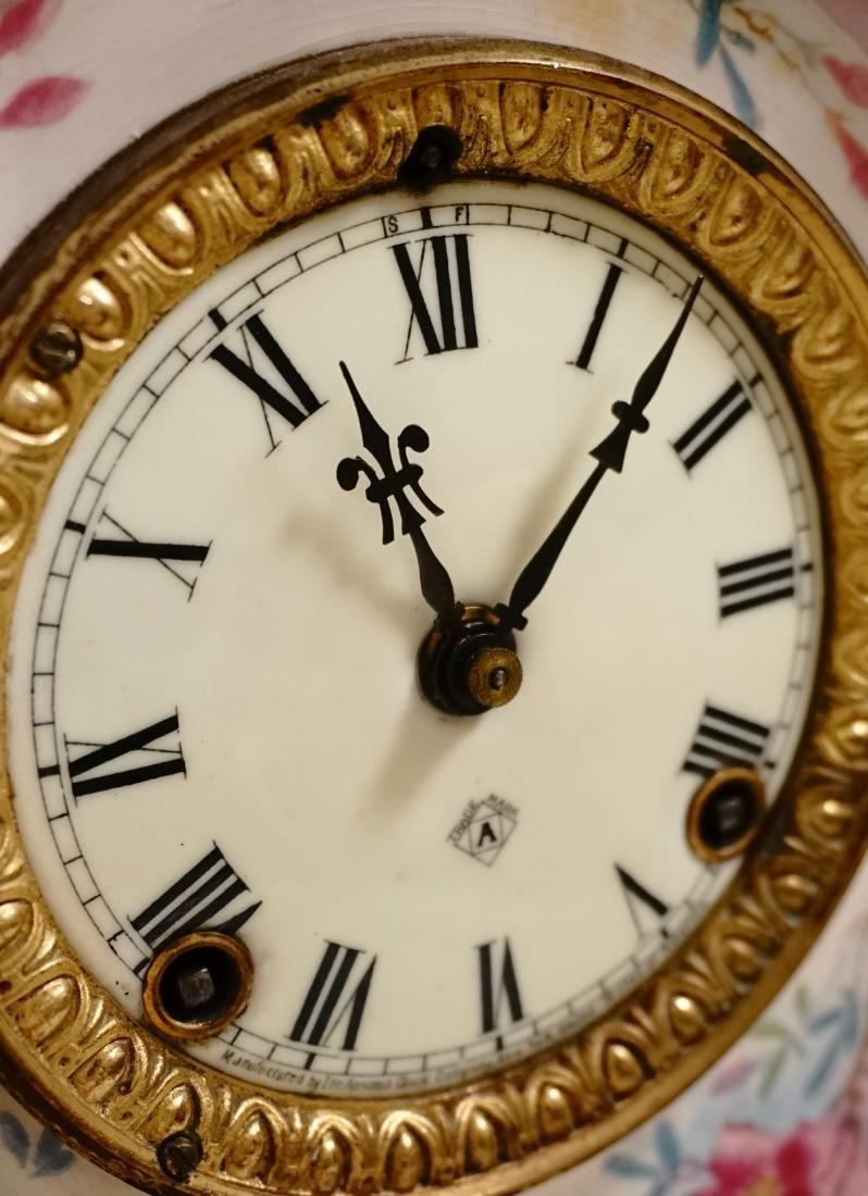 Ansonia Royal Bonn China Striking Mantle Clock - 10