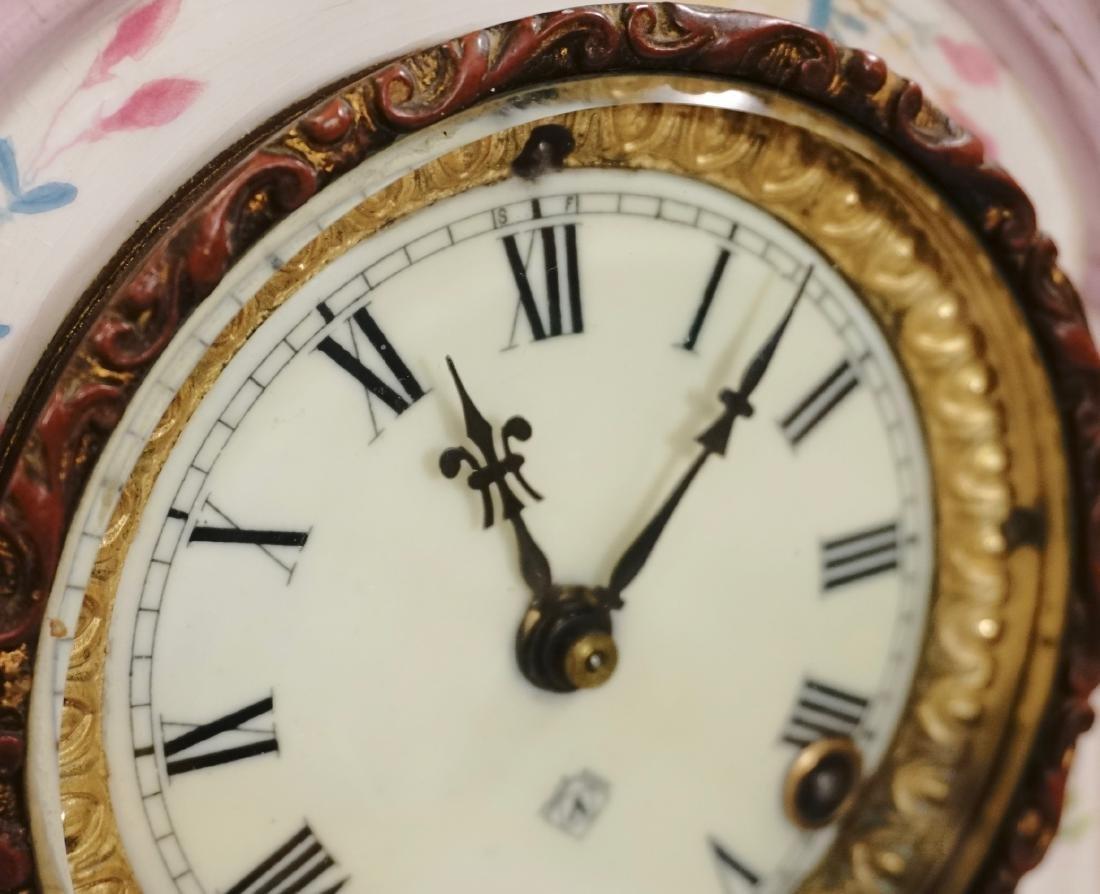 Ansonia Royal Bonn China Striking Mantle Clock - 11