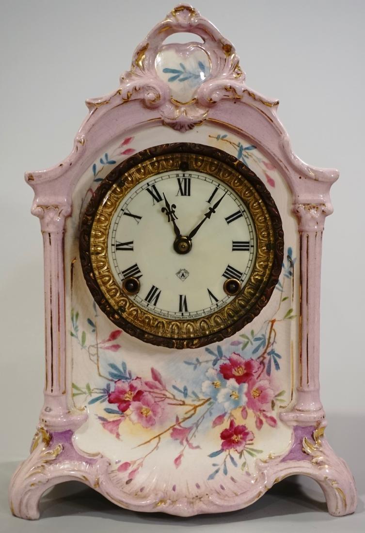 Ansonia Royal Bonn China Striking Mantle Clock - 12