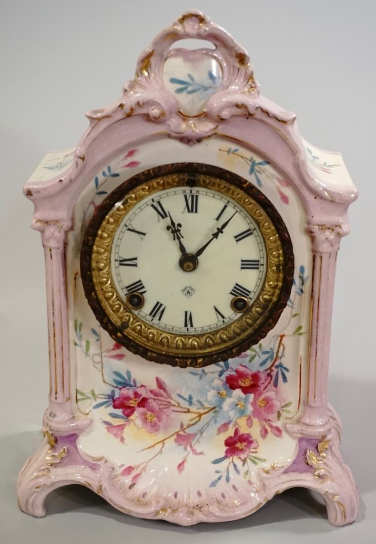 Ansonia Royal Bonn China Striking Mantle Clock - 3