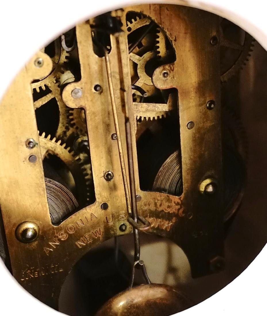 Ansonia Royal Bonn China Striking Mantle Clock - 7
