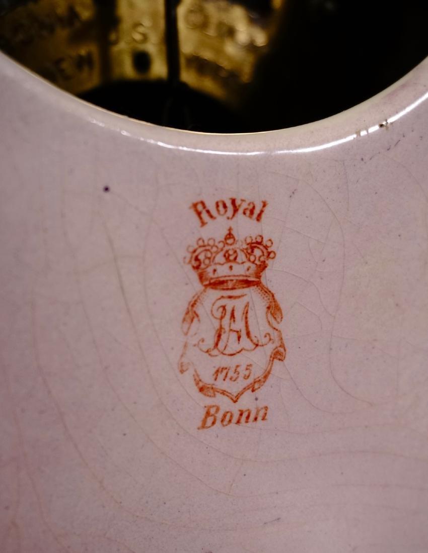Ansonia Royal Bonn China Striking Mantle Clock - 8
