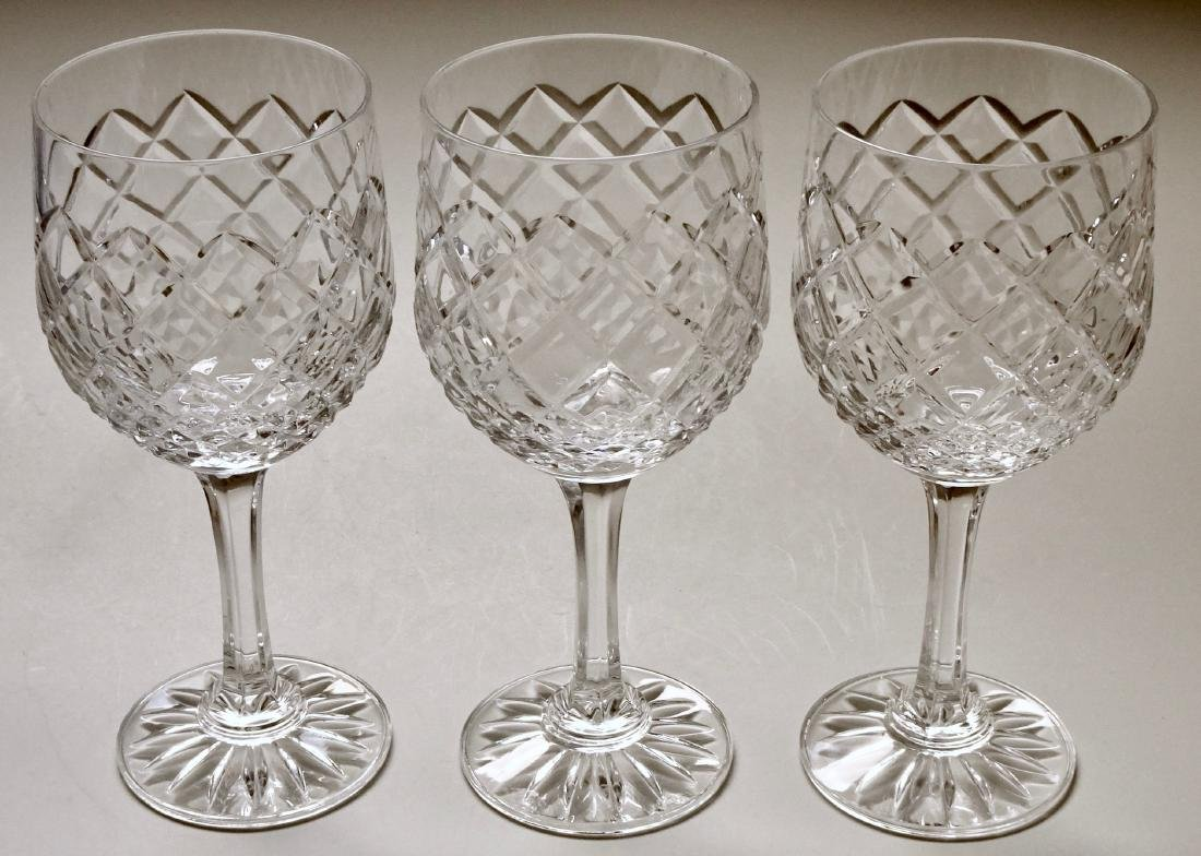 24% Lead Crystal Goblets Lot of 3 Stemware