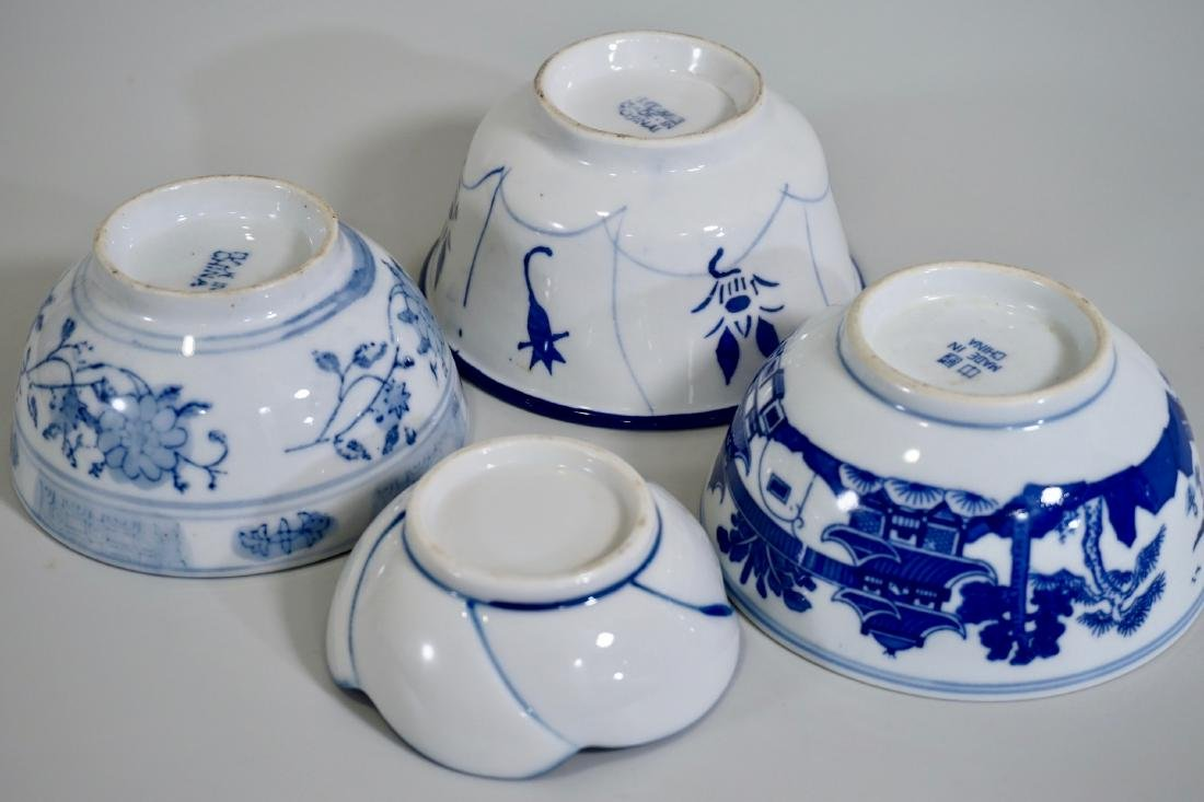 Chinese Blue White Porcelain Bowl Lot of 4 Bowls - 3