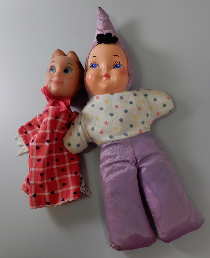 Hand Puppet and Vintage Baby Doll