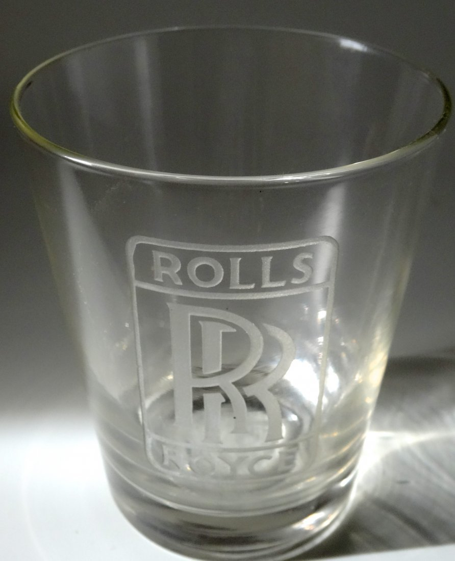 Vintage Rolls Royce Car Advertising Whiskey Glass Deep
