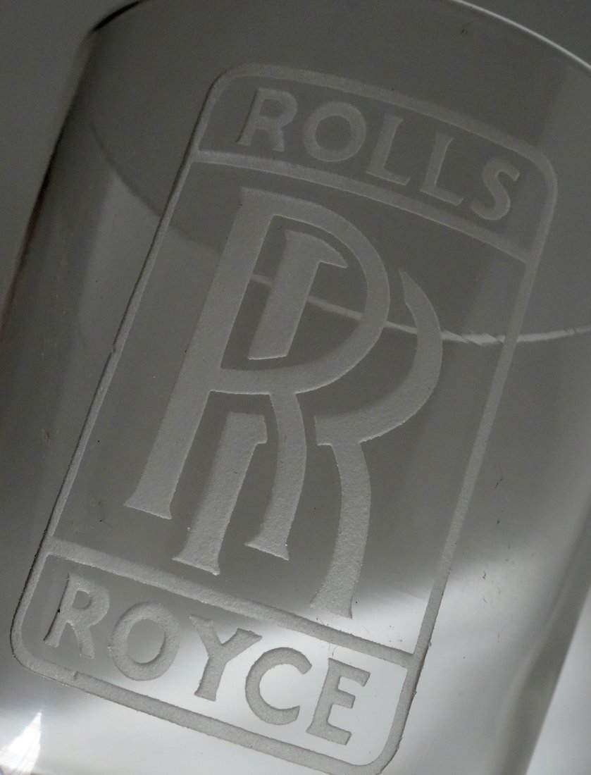 Vintage Rolls Royce Car Advertising Whiskey Glass Deep - 3