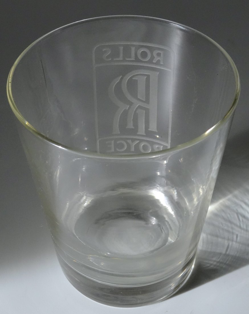 Vintage Rolls Royce Car Advertising Whiskey Glass Deep - 4