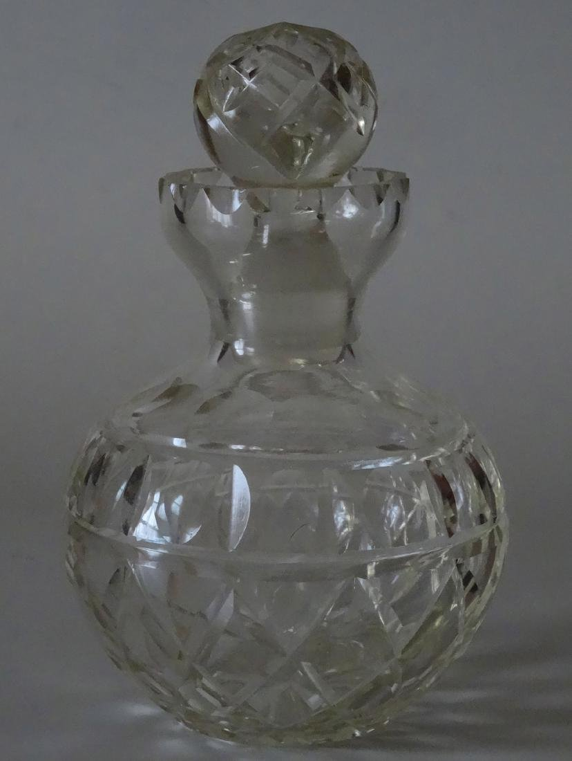 Large Ball Vanity Perfume Bottle Cut Glass