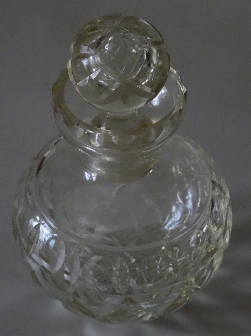 Large Ball Vanity Perfume Bottle Cut Glass - 2