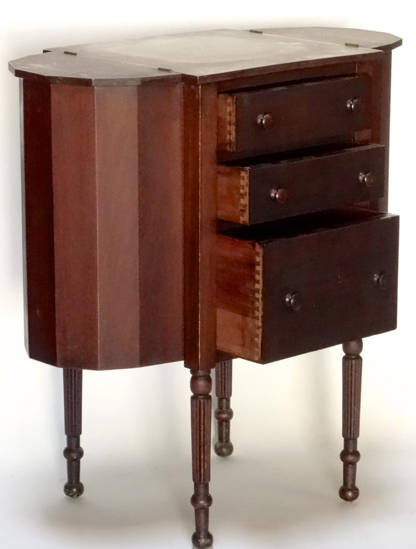 Solid Mahogany Cabinet Sewing Table - 2