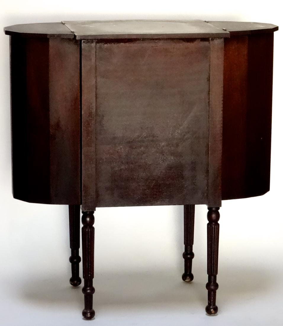 Solid Mahogany Cabinet Sewing Table - 7