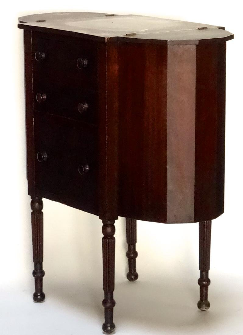 Solid Mahogany Cabinet Sewing Table - 8