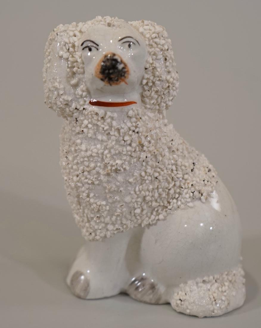 Staffordshire Model of a Confetti Fur Poodle With