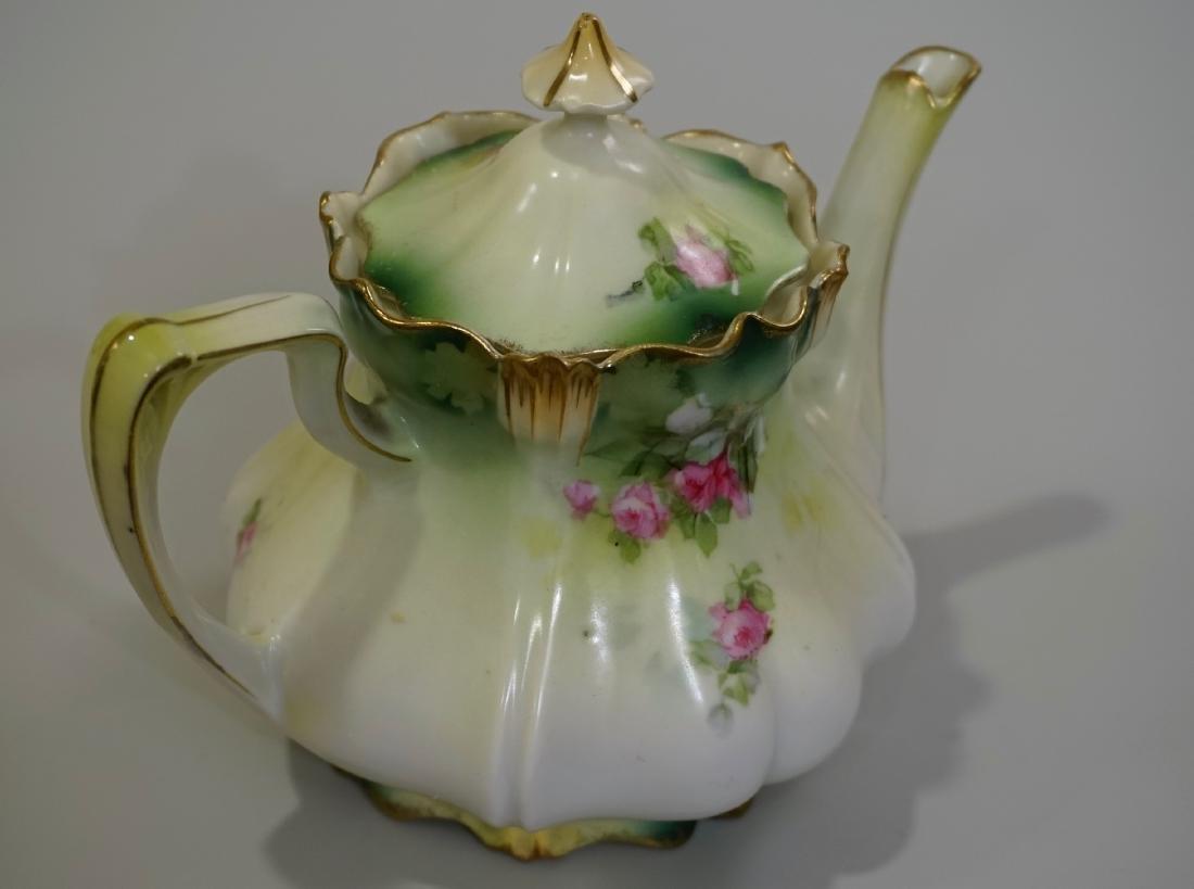 Antique RS Prussia Porcelain Teapot - 4