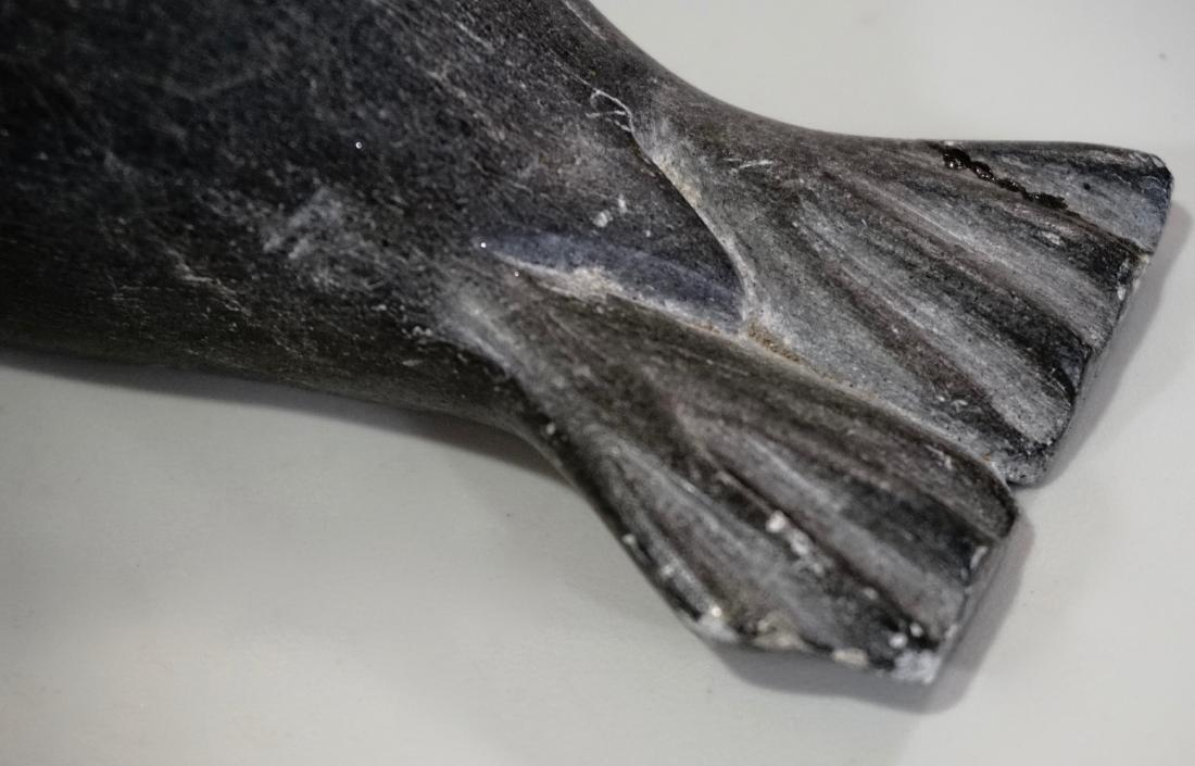 Inuit Eskimo Seal Carved Stone Figurine - 5