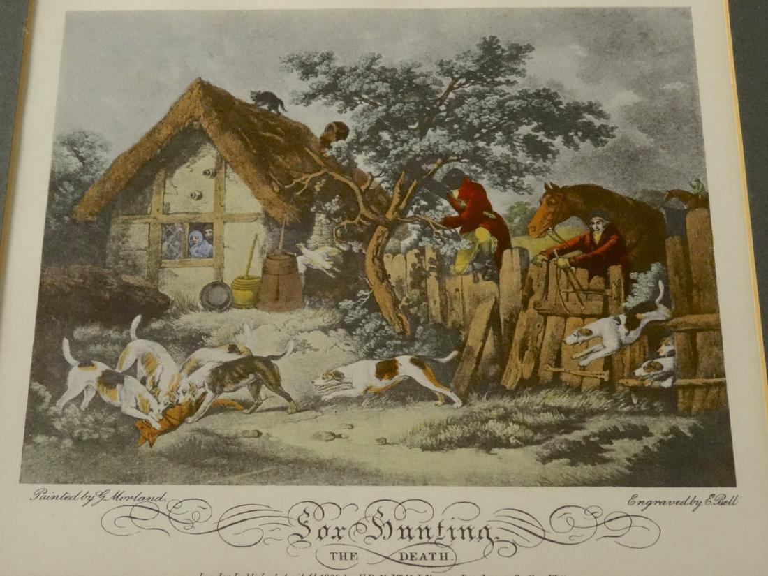 Lot of 4 English Fox Hunting Scene Framed Prints - 10
