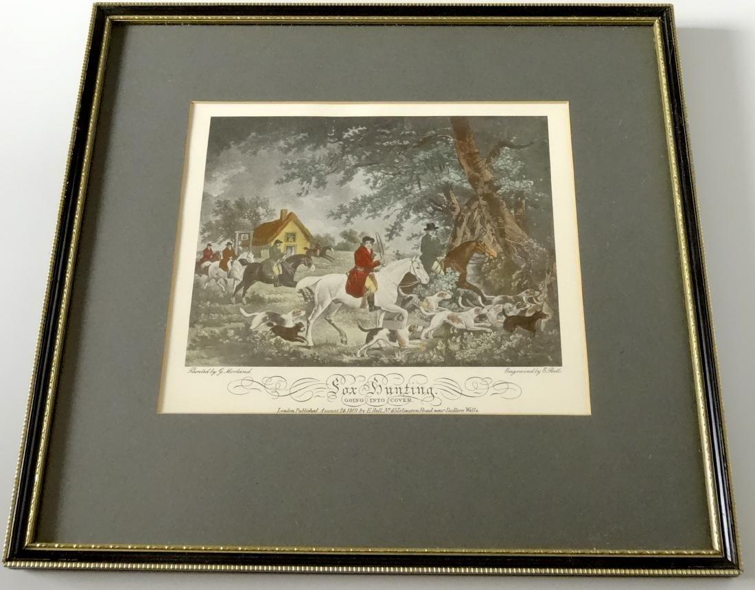 Lot of 4 English Fox Hunting Scene Framed Prints - 3