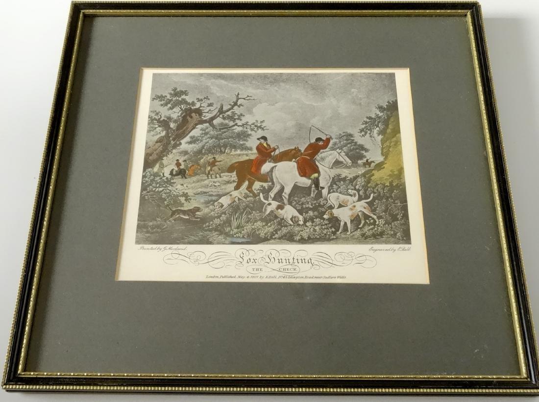 Lot of 4 English Fox Hunting Scene Framed Prints - 6