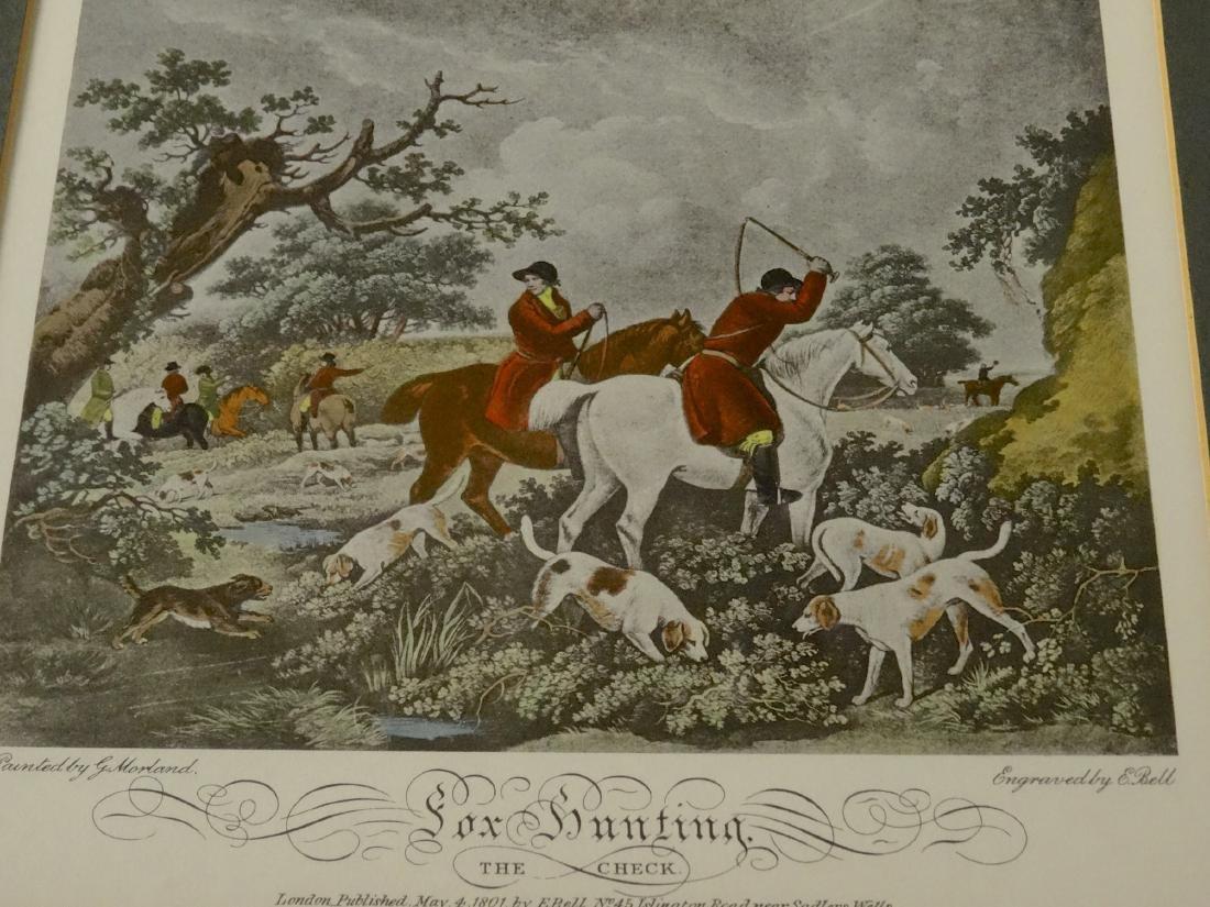 Lot of 4 English Fox Hunting Scene Framed Prints - 7