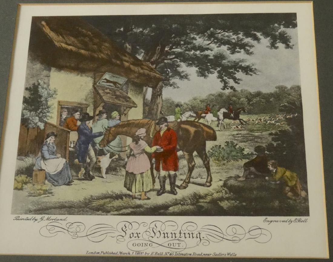 Lot of 4 English Fox Hunting Scene Framed Prints - 8