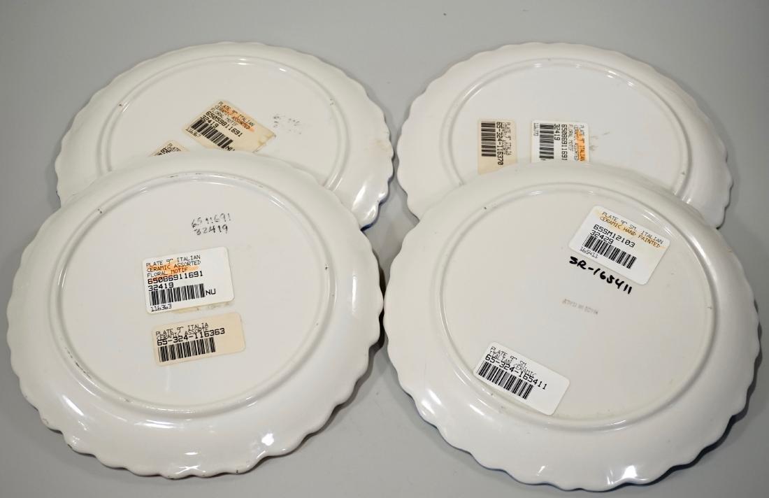 Italian Pottery Flower Plate Lot of 4 Embossed Ceramic - 3
