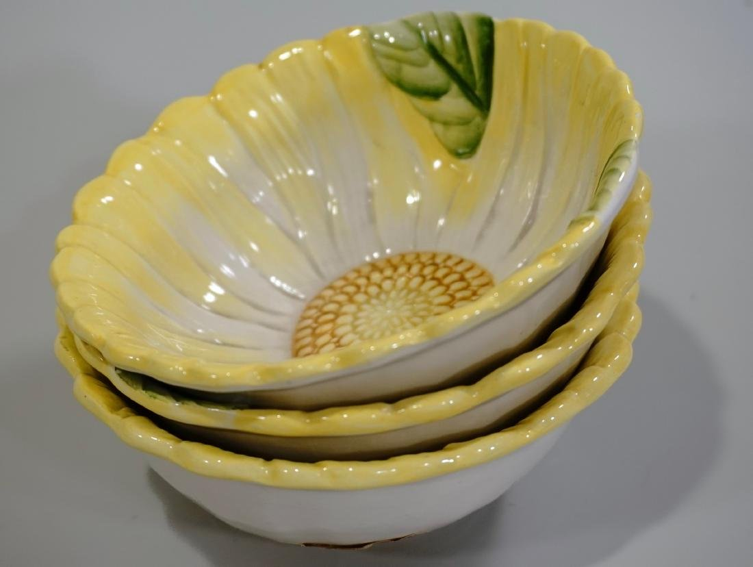 Artesian Ceramic Bowls Set Made In Italy Hand Painted - 6