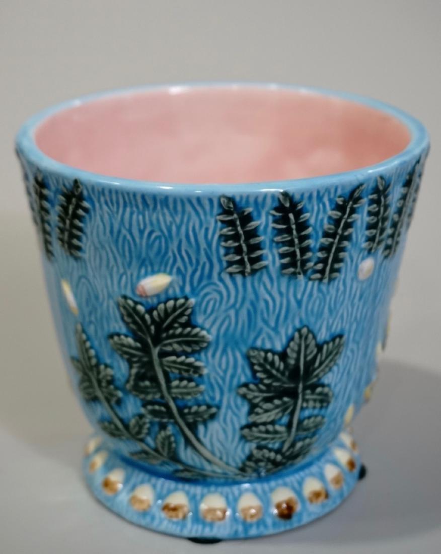 Majolica Cache Pot Planter
