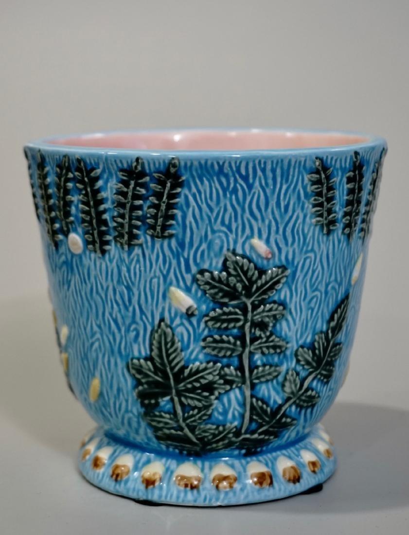 Majolica Cache Pot Planter - 3