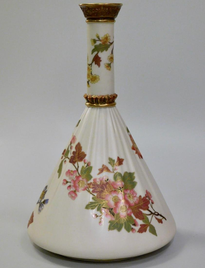 Antique Royal Worcester China Floral Porcelain Vase
