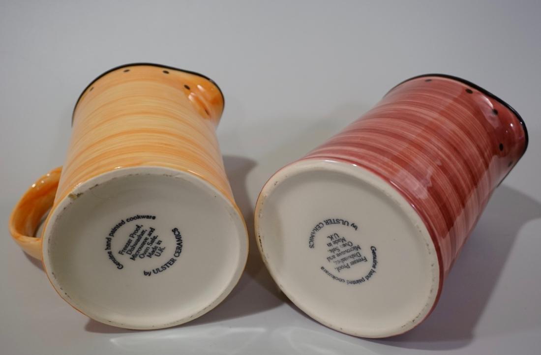 Ulster Ceramics Pitcher Lot of 2 English Ceramics Jugs - 5