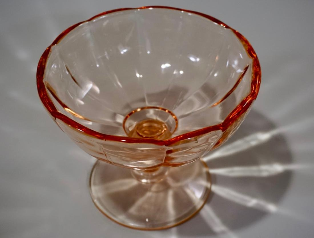 Depression Glass Pink Compote - 2