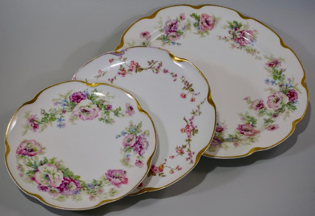 Haviland Limoges Porcelain Tray Platter Plate Set of 3