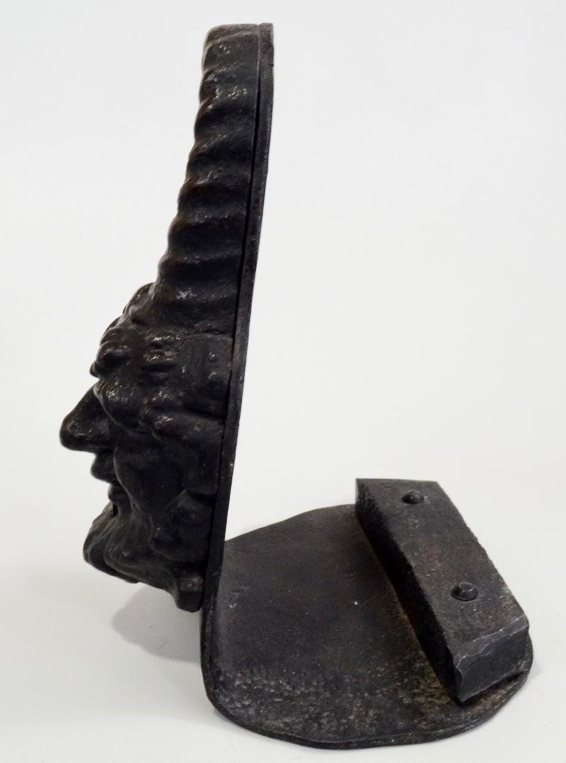 Antique Gnome Head Cast Iron Doorstop Leprechaun - 4