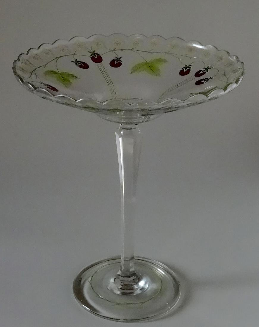 Antique c.1900 Pairpoint Strawberry Tall Compote Art