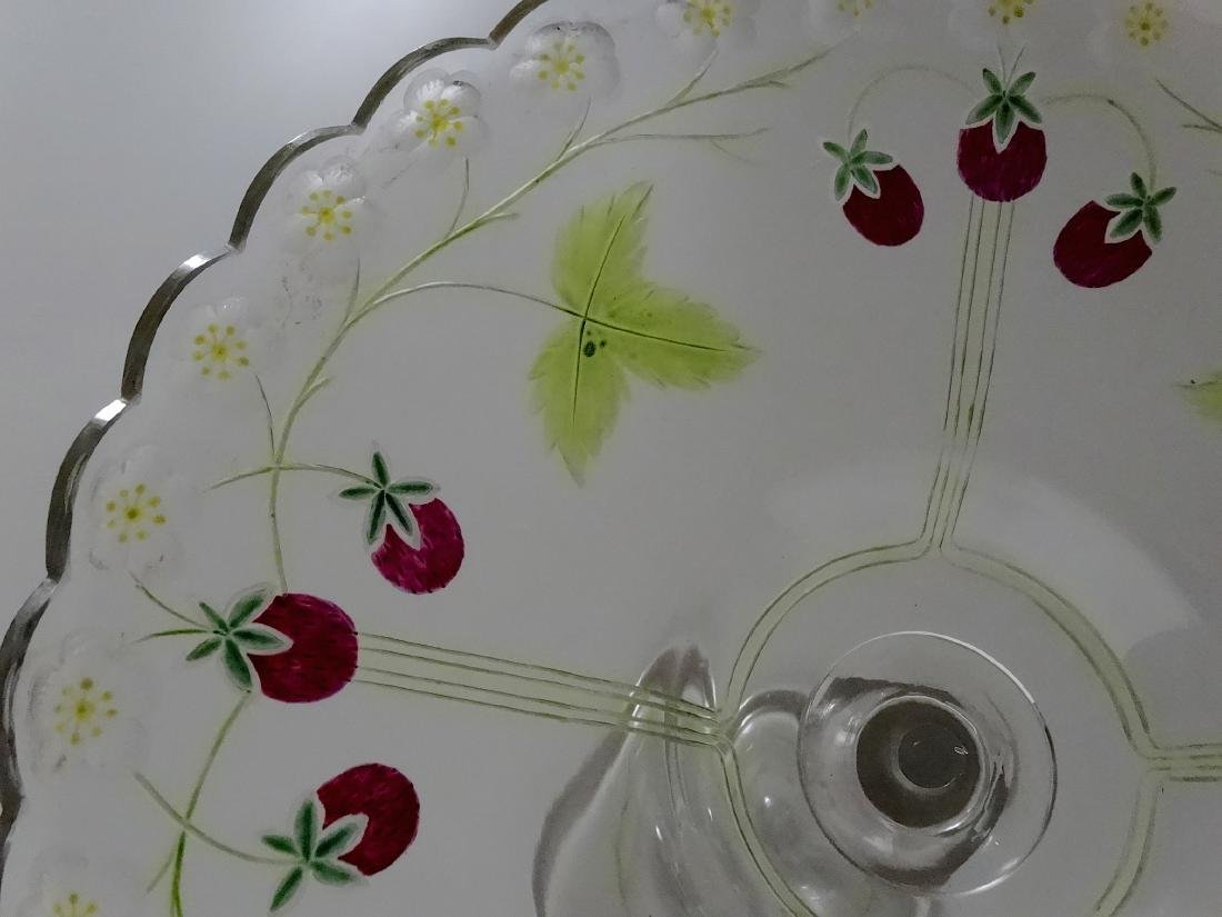 Antique c.1900 Pairpoint Strawberry Tall Compote Art - 8