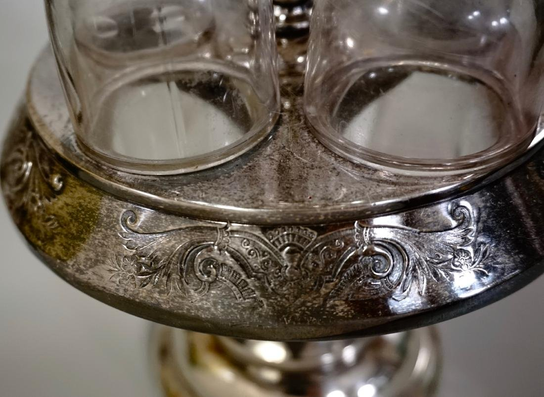 Victorian Eastlake Silver Plated Castor Condiment Set - 7