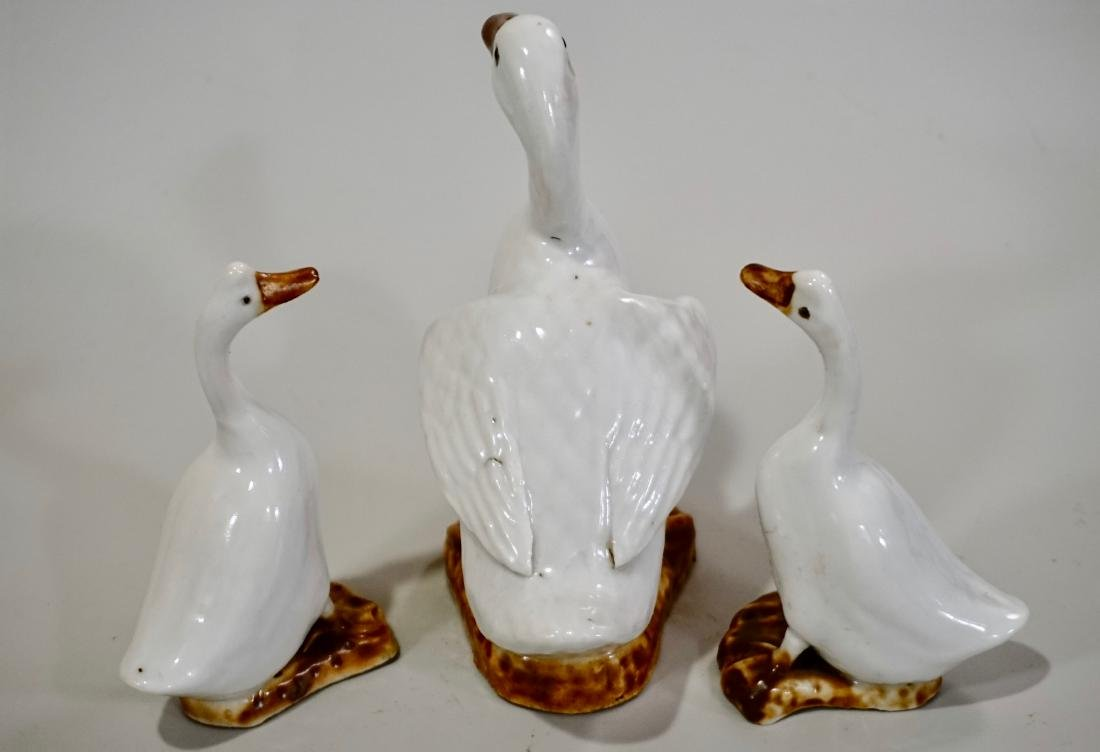 Vintage Goose Pottery Geese Figurines Lot of 3 - 3