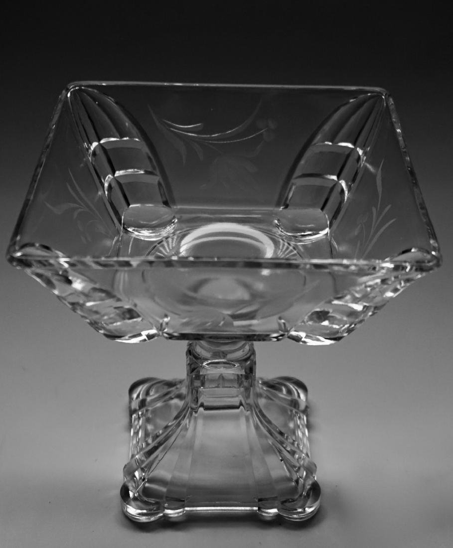 Antique Pressed Glass Lid Covered Compote Pedestal Dish - 6