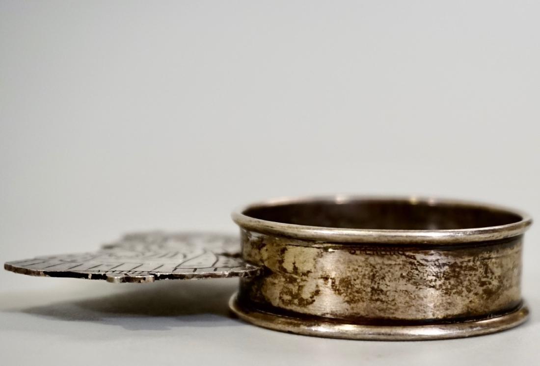 Sterling Silver Parasol Girl Napkin Ring Signed Sara - 4