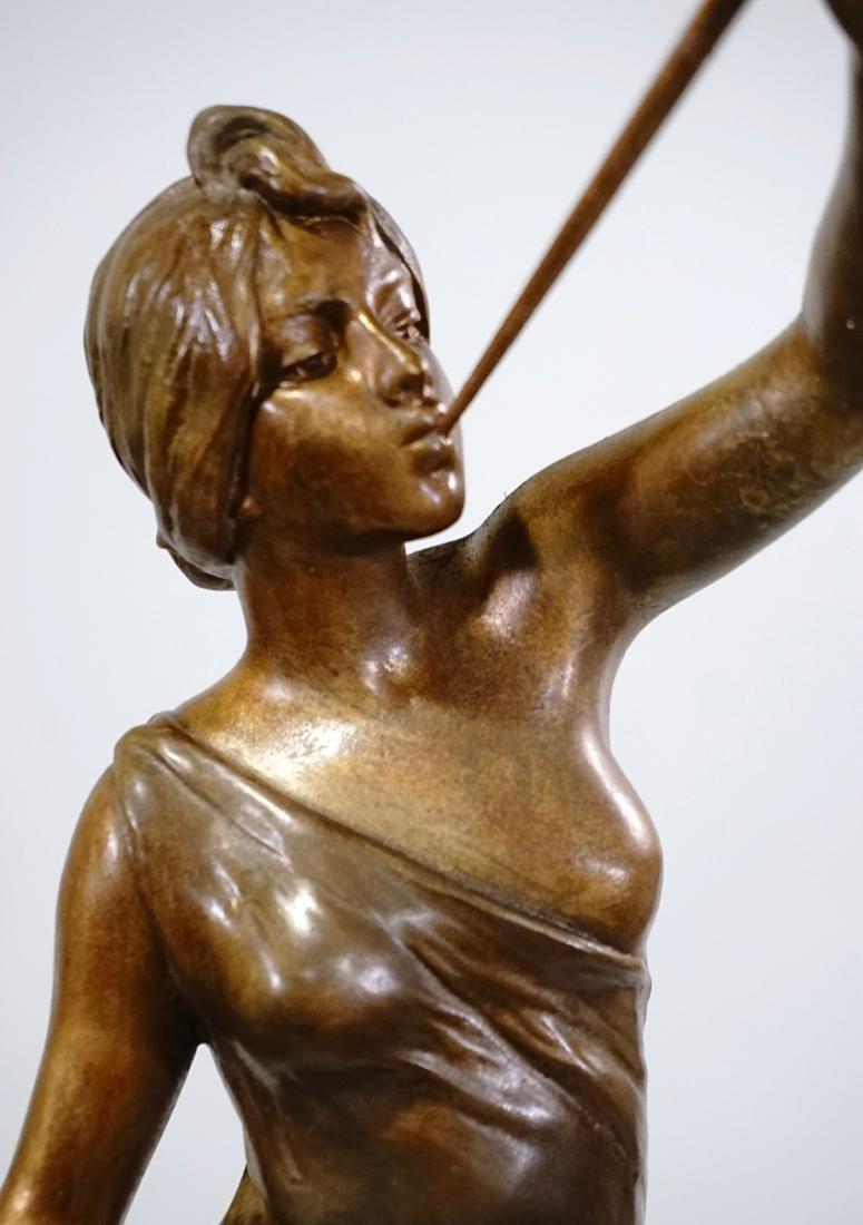 Aurora Trumpeting Figurine Bronzed Spelter After - 10