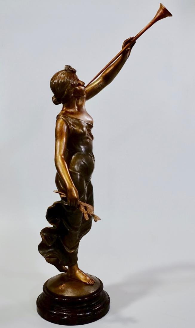 Aurora Trumpeting Figurine Bronzed Spelter After - 2